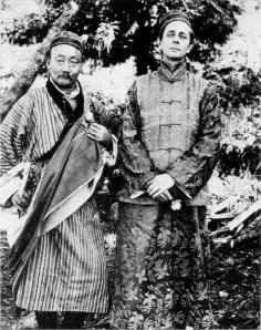 Walter_Evans-Wentz_and_Lama_Kazi_Dawa_Samdup_photographed_circa_1919