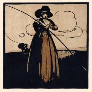 Depiction of Juliana Berners. Lithograph by William Nicholson, 1898.