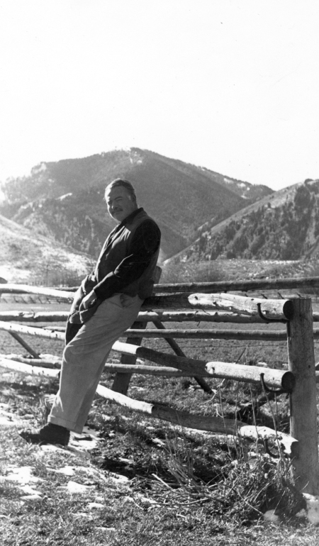 EH 4074P  Ernest Hemingway in Idaho, not dated. Photograph in the Ernest Hemingway Photograph Collection, John F. Kennedy Presidential Library and Museum, Boston.