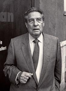 Octavio Paz besökte Malmö Internationella Poesifestival 1988, John Leffmann.