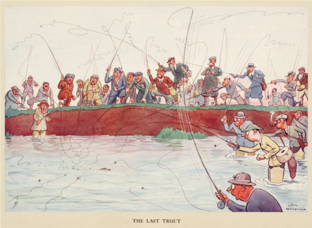 The Last Trout. From The Tattler. Copyright H.M. Bateman Designs, www.hmbateman.com.